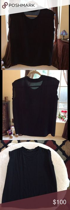ALLSAINTS Black Silk Top 100% Silk top, US size 2. Hardly worn, like new. Newly dry cleaned. By ALLSAINTS All Saints Tops Blouses