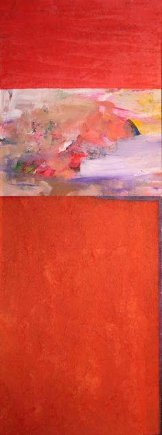 Outback Red  collage by Jo Reimer.  Sold