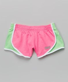 This Pink & Summer Green Team Shorty Shorts by Soffe is perfect! #zulilyfinds