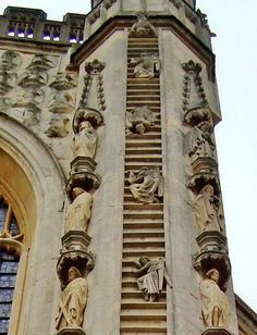 Angels climbing Jacob's Ladder, Bath Cathedral