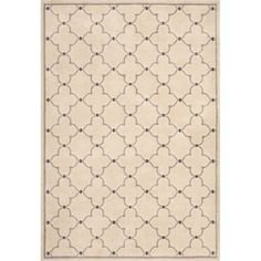 @Overstock - Primary materials: Polypropylene  Pile height: .39 inches  Style: Contemporary http://www.overstock.com/Home-Garden/Miramar-Ivory-Grey-Contemporary-Area-Rug-53-x-76/6233408/product.html?CID=214117 $184.99