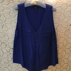 Blue Blouse Cute and flowy blue top! Nice button details. 28 inches long, 38 inch bust. 41hawthorn Tops Tunics