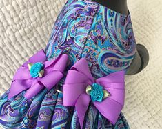 Artículos similares a Polka Dot Dog Harness with skirt or can exchange for diaper for Girl Dog Custom Made en Etsy