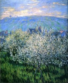 Plums Blossom - Claude Monet .1879 Monets flowering trees are so amazing...