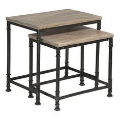 Shop for Somette 2-Tier Nesting Accent Tables (Set of 2). Get free shipping at Overstock.com - Your Online Furniture Outlet Store! Get 5% in rewards with Club O!
