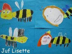 Veilig Leren Lezen Bee Art, Crafts For Kids, Spring, Crafts For Children, Kids Arts And Crafts, Kid Crafts, Craft Kids