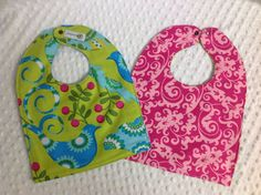 High Quality Reversible Fabric Bib with terry by GroovyLittleBaby,