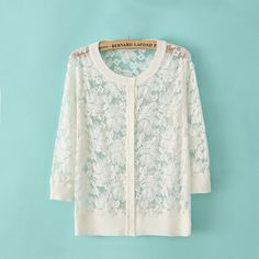 To find out about the White Long Sleeve Embroidery Lace Cardigan at SHEIN, part of our latest Sweaters ready to shop online today! Lace Cardigan, Cotton Sweater, Women's Dresses, Shops, Fair Lady, White Long Sleeve, White Sweaters, Lace Tops, My Wardrobe