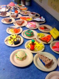 Using Crayola Air Dry Clay to create Food... from http://oodlesofart.blogspot.com/search/label/4th%20Grade