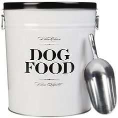 Harry Barker Dog Food Storage Canister - Bon Chien - Black - 40 lb  sc 1 st  Pinterest & Enamel Dog Food Storage Containers ...........click here to find out ...