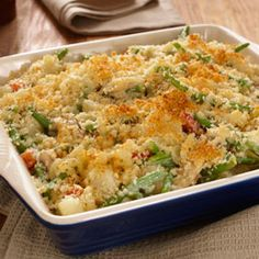 Creamy Vegetable Casserole. Tried. Liked. Slight changes; mixed veggies, broccoli, no crumbs used Parmesan cheese instead.