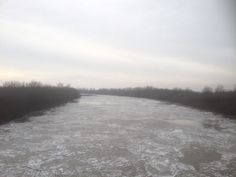 Ice flows on the Kaskaskia River near the Jerry F. Photo courtesy of Christopher Martin. Randolph County, Ice, Tours, Beach, Water, Photography, Outdoor, Gripe Water, Outdoors