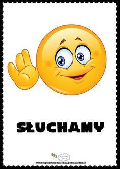 Umiem słuchać Polish Language, Teachers Corner, Starting School, Music Education, Sunday School, Smiley, Worksheets, Behavior, Crafts For Kids