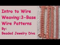 Wire Weaving With 3 Base Wires - Wire Weaving Intro. Wire Weaving Patterns Tutorial: Learn 5 wire weaving patterns that all use 3 base wires! Have fun practicing with these wire weaving patterns,, as well be using these weaves in future wire jewelry Wire Tutorials, Jewelry Making Tutorials, Wire Jewelry Making, Wire Wrapped Jewelry, Wire Jewellery, Antique Jewellery, Metal Jewelry, Gold Jewelry, Beaded Jewelry