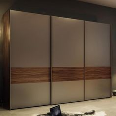 Multi-Forma II Sliding Wardrobe - Hulsta: MULTI-FORMA II sliding door wardrobes effortlessly fit in with sophisticated interior design ideas. Fitted Wardrobe Doors, Wooden Wardrobe, Wardrobe Design Bedroom, Bedroom Bed Design, Bedroom Furniture Design, Bedroom Wardrobe, Wardrobe Laminate Design, Room Door Design, Door Design Interior