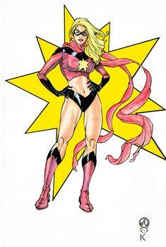 Marvel colors, in Kraig Przybylskis My Own Work Comic Art Gallery Room - 1008099 Miss Marvel, Captain Marvel, Marvel Avengers, Comic Books Art, Comic Art, Book Art, Spiderman, Comic Costume, Marvel Coloring
