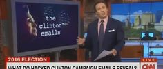 CNN's Chris Cuomo told viewers it is illegal for them to possess emails leaked by the website WikiLeaks, and as a result they could not read them and had to rely entirely on the media to learn about t