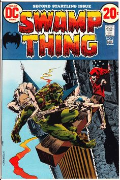 Life of Comics (@LifeofComics) | Twitter  Swamp Thing 2 NM- http://etsy.me/2kvdVAK  1973 #SwampThing #SwampPeople #HorrorComics #BernieWrightson art #Scary #Creepy #BronzeAge #Comics
