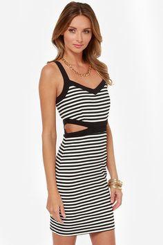 Jack by BB Dakota Mac Dress - Black and White Dress - Striped Dress - $63.00