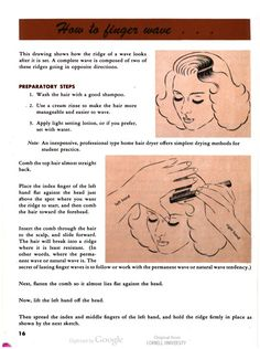How to finger wave. A step by step guide to doing finger waves in hair. How it's done...Hairstyles for you, by Ivan of Hollywood