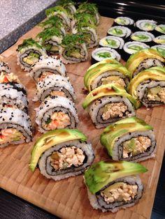 Home made sushi -spicy tofu