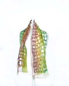 de fieltro bufanda bufanda de fieltro nuno lana seda arte