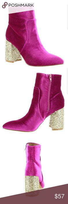 a6a722a6659e Betsey Johnson ankle boots velvet pink Up for consideration, Betsey Johnson  Kacey Pink Velvet Glitter