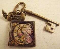 Steampunk Style Clock Photo Pendant by ShayBelleDesigns on Etsy, $8.00