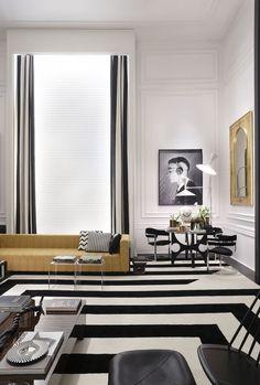 Black on White, interior design, Studio Guilherme Torres, living room, black and white floor Interior Design Inspiration, Room Inspiration, Living Room Decor, Living Spaces, Estilo Interior, Design Moderne, Home And Living, Interior Architecture, Modern Design