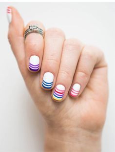 Nail TUTORIAL: Rainbow Nails - Full tutorial? Click the image!