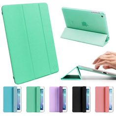 ESR Candy Series iPad Air Case iPad 5 Case Slim Lightweight Smart Case Cover with multi-function as Keyboard Stand & Face time/Movie View Stand (Mint Green) ESR,http://www.amazon.com/dp/B00GDAGKNM/ref=cm_sw_r_pi_dp_ac8ytb1SPJ2FNJSE I have this case