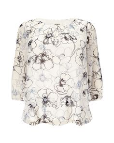 Buy Studio 8 Daisy Linear Print Silk Blouse, White from our Women's Shirts & Tops range at John Lewis & Partners. Black Trousers, Tailored Trousers, White Silk Blouse, Beautiful Blouses, Blouse Online, White Fashion, Printed Blouse, Daisy, Pure Products