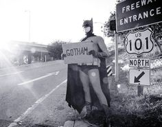 Gotham- You can hitch a ride with me Batman. Need a ride to the bat cave? :-)