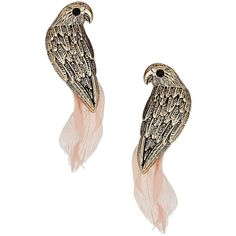 Parrot earrings ($11) ❤ liked on Polyvore