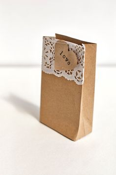 Wedding or Party Favour (Favor)  Bags -  Kraft Paper Gift Bags.  via Etsy.