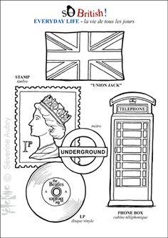 Coloriage sur la culture britannique dans mon coin pour les plus rapides. Du culturel ludique pour décorer les cahiers !