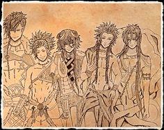 Artwork. #fanart #kamigaminoasobi #thor #loki #takeru #Dionysus #Apollon #anime #drawing