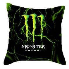 Monster Energy Rectangle Pillow Cases comfortable to sleep two side case Monster Energy Gear, Monster Energy Drinks, Dirt Bike Party, Love Monster, Monster Car, Custom Pillow Cases, Fox Racing, My Room, Bunt