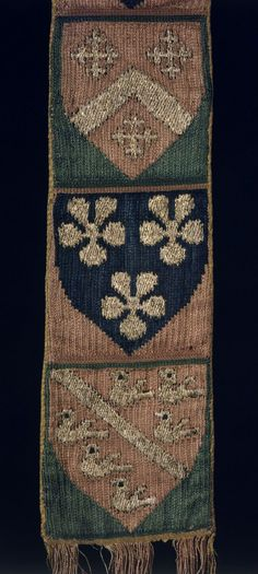 Ecclesiastical Stole | Unknown | V&A Explore The Collections Medieval Life, Medieval Art, Embroidery Patterns, Hand Embroidery, Medieval Embroidery, Century Textiles, Early Middle Ages, Tablet Weaving, Passementerie