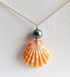 Mother's day sale sunrise shell necklace sunrise by MaimodaJewelry