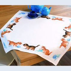 Playful Kittens Tablecloth - Vervaco counted cross stitch kit