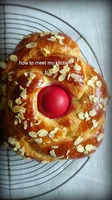 How To Meet My Kitchen: Πασχαλινά τσουρέκια Doughnut, Muffin, Meet, Breakfast, Kitchen, Desserts, Food, Breakfast Cafe, Cucina