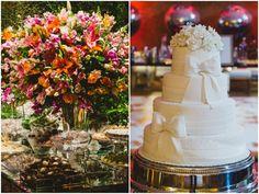 Detalhes da mesa de doces e bolo de Dirce Correa