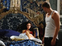 Princess Life from The Royals Episode We Are Pictures, or Mere Beasts Princess Eleanor isn't having any of it. Jasper And Eleanor, Disney Princess Bedding, Royal Tv Show, Merritt Patterson, Best Tv Couples, Alexandra Park, Bedroom Scene, London Night, Royal Princess
