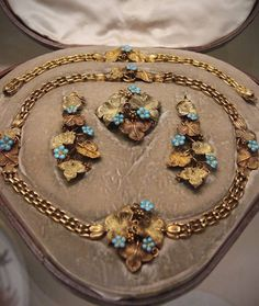 Victorian Gold/Turquoise  Parure-1837-46