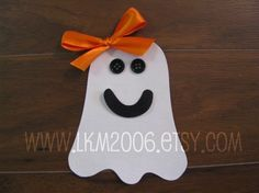 Friendly Ghost Iron On Applique You Choose Boy or Girl by lkm2006, $3.00