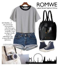"""Romwe"" by merimaa997 ❤ liked on Polyvore featuring Arco, Converse and Marc by Marc Jacobs"