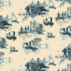 Timorous Beasties London Toile Wallpaper ($110) ❤ liked on Polyvore featuring home, home decor, wallpaper, contemporary home decor, contemporary wallpaper, timorous beasties, toile home decor and toile de jouy wallpaper
