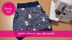 Video návod ve kterém se naučíte ušít jednoduchou sukni, kterou budete milovat. Součástí návodu je také, jak si na sukni uděláte střih na míru. Návod na vás čeká v Online škole šití Textiles, Refashion, High Waisted Skirt, Sewing, Skirts, How To Wear, Youtube, Dresses, Blog