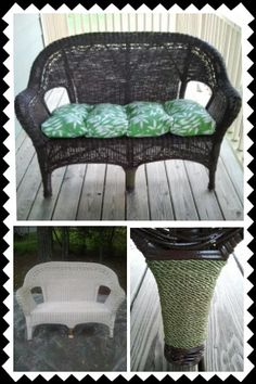 Refurbished Rubbish™: Wicker Settee   Before/After